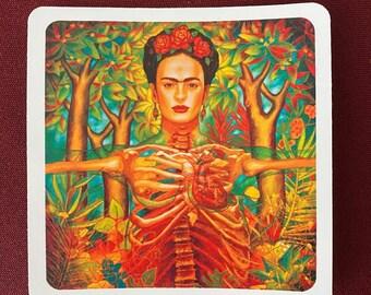 "Corazon de Frida (4"" X 4"")"