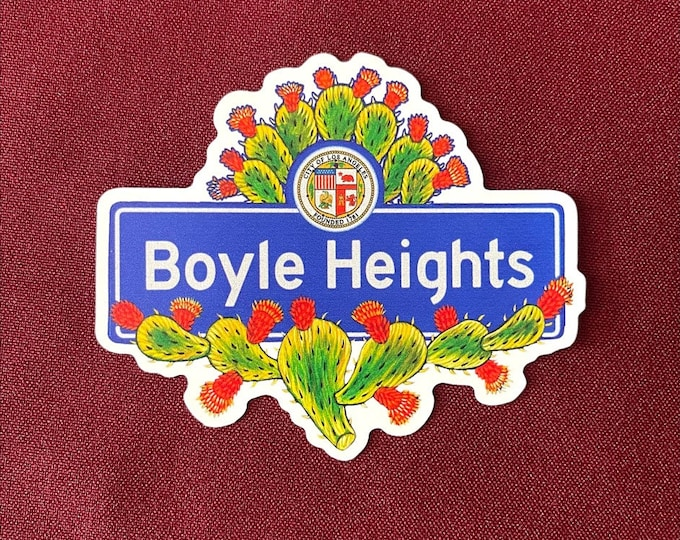 """Featured listing image: Boyle Heights Sticker (4"""" X  3.5"""")"""