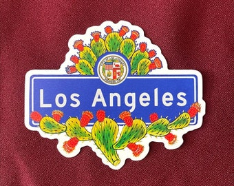 "Los Angeles Sticker (4"" X  3.5"")"