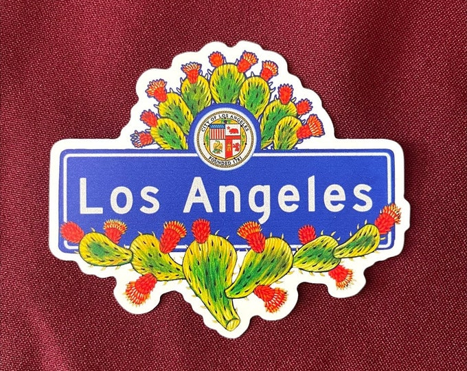 """Featured listing image: Los Angeles Sticker (4"""" X  3.5"""")"""
