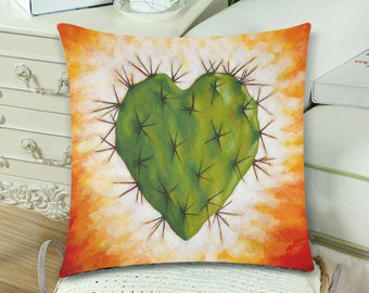 Corazon Nopal Pillow