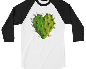 Corazon Nopal 3/4 sleeve raglan shirt