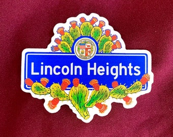 """Lincoln Heights Sticker (4"""" X  3.5"""")"""