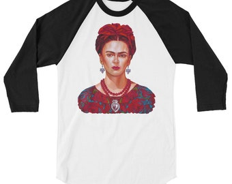 Frida Hermosa 3/4 sleeve raglan shirt