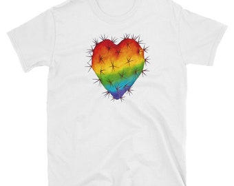 Corazon Nopal Orgullo Short-Sleeve Unisex T-Shirt