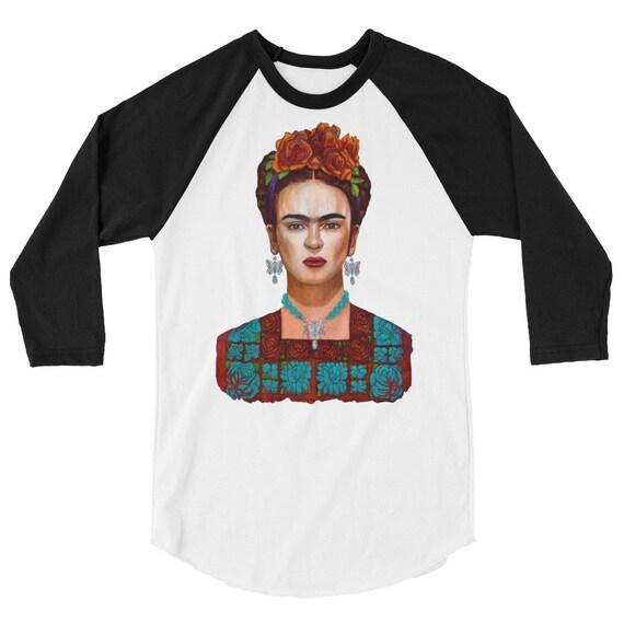 Frida y sus  Mariposas 3/4 sleeve raglan shirt