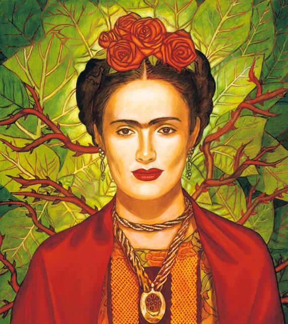 Salma / Frida - Framed Giclee on Canvas