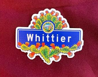 """Whittier Sticker (4"""" X  3.5"""")"""