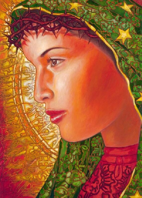 Lupita Dolorosa - Framed Giclee on Canvas