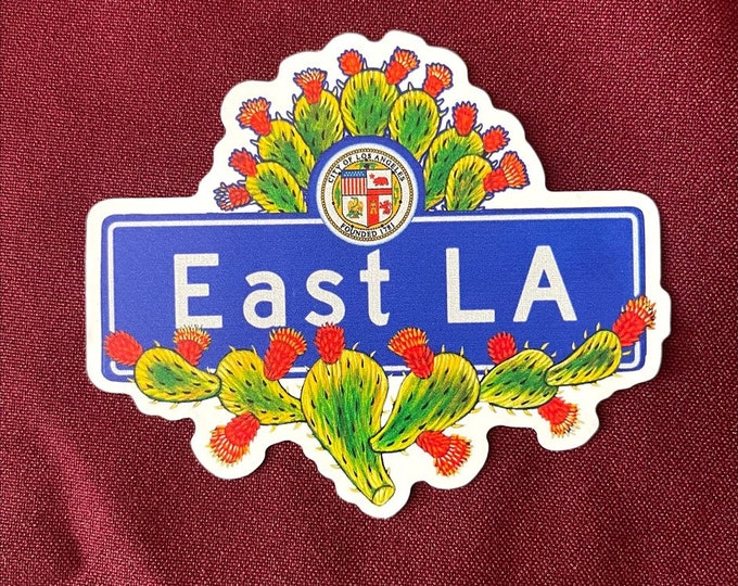 """Featured listing image: East LA Sticker (4"""" X  3.5"""")"""