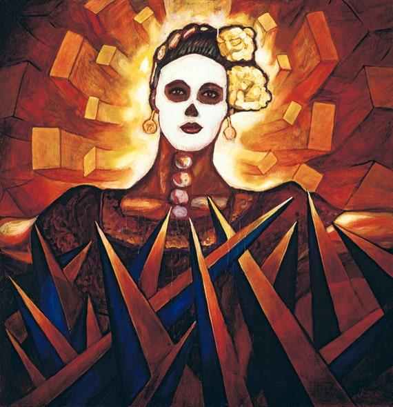 Muerte  Atrapada - Framed Giclee on Canvas