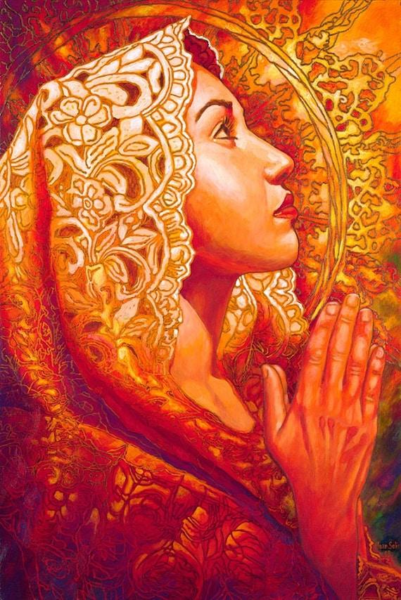 Fe y Esperanza - Framed Giclee on Canvas