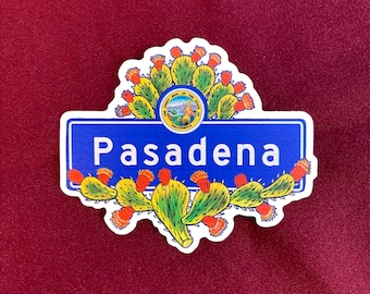 "Pasadena Sticker (4"" X  3.5"")"
