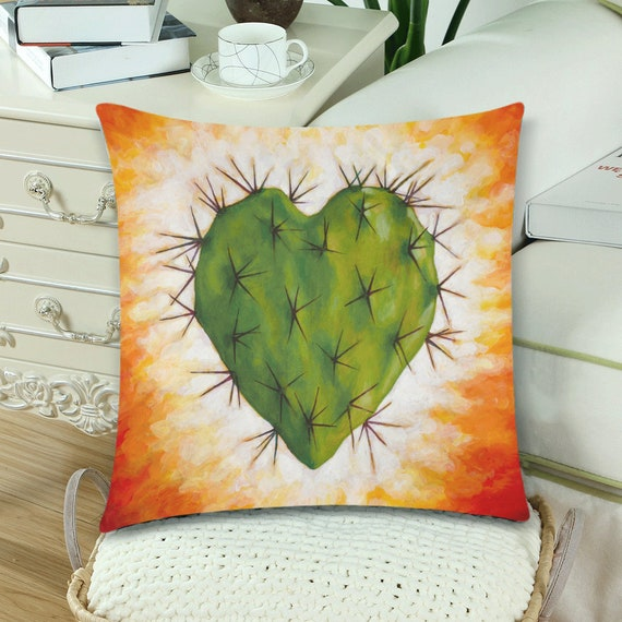 Corazon Nopal Pillow