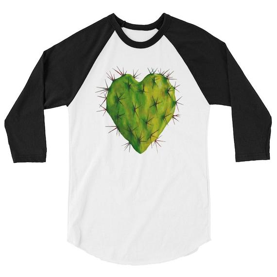 Corazon Nopal 3/4 sleeve raglan shirt