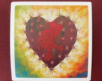 """Corazon Zacatecano Sticker (4"""" X 4"""")"""