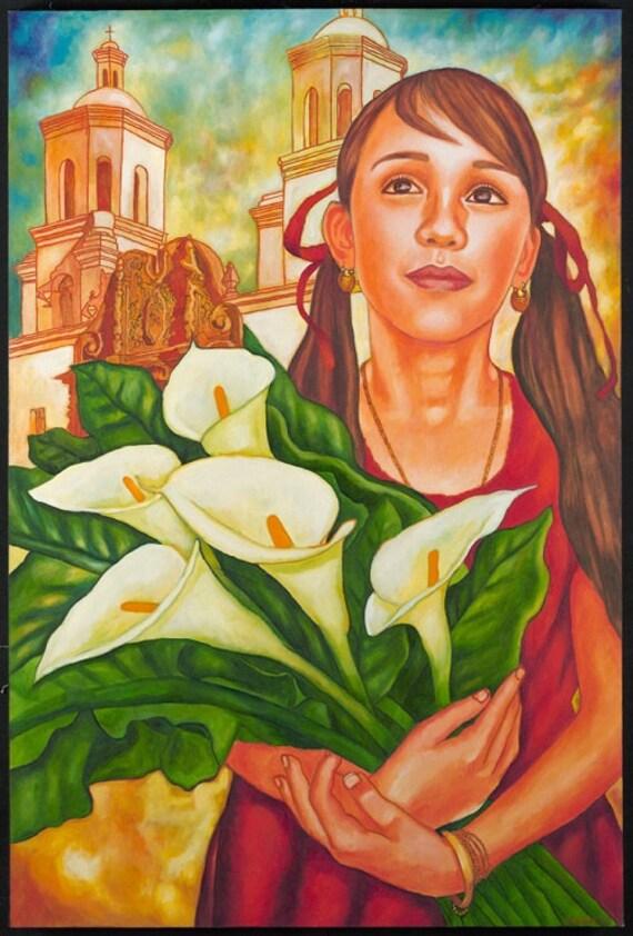 Niña  Bonita - Framed Giclee on Canvas