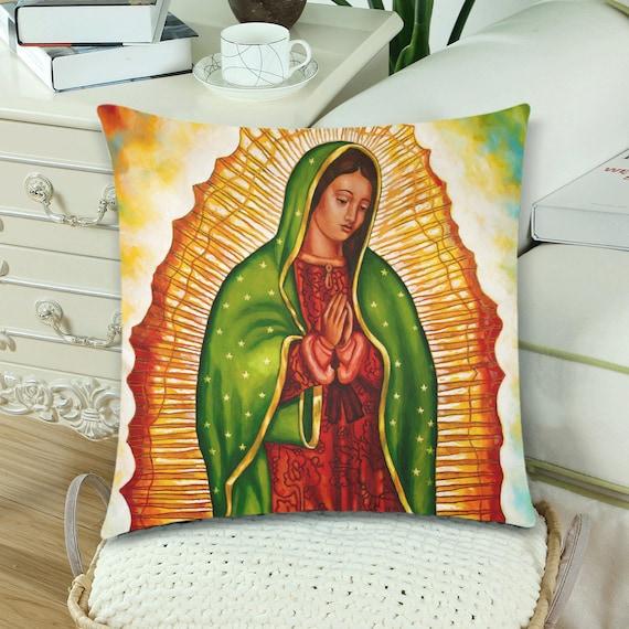 Virgen de Guadalupe (Left Side) Pillow
