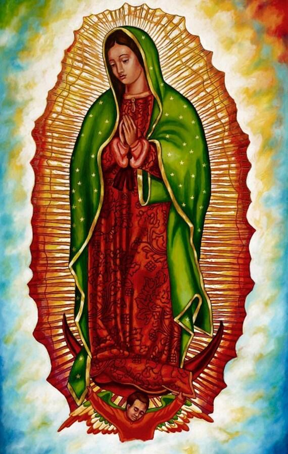 Virgen de Guadalupe - Framed Giclee on Canvas