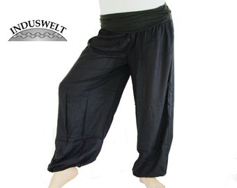 High Crotch Harem Pants in black Yoga Wear