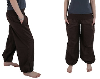 Women's Harem Pant Yoga Pant in solid brown