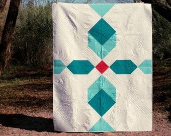 Skylark - Modern Half Square Triangle and Stitch and Flip Pieced PDF Quilt Pattern
