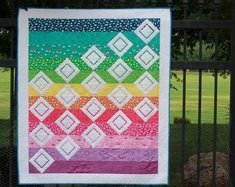 Sprinkles - Modern Beginner Foundation Paper Pieced Rainbow PDF Quilt Pattern