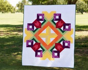 Cornucopia - Modern Half Square Triangle PDF Quilt Pattern