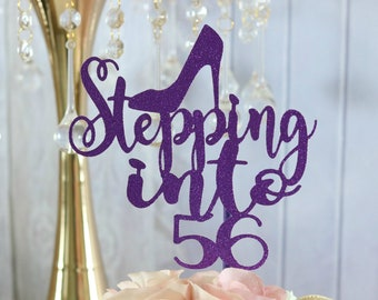 Glamour Party ANY AGE COLOR 56th Birthday Shoe Cake Topper Decorations 50th