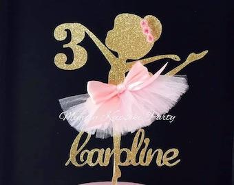 b68b39337 Ballerina Cake Topper - Ballerina Party Decorations - Ballerina Party Decor  - Ballerina Party Centerpiece - Ballerina Birthday Party Cake
