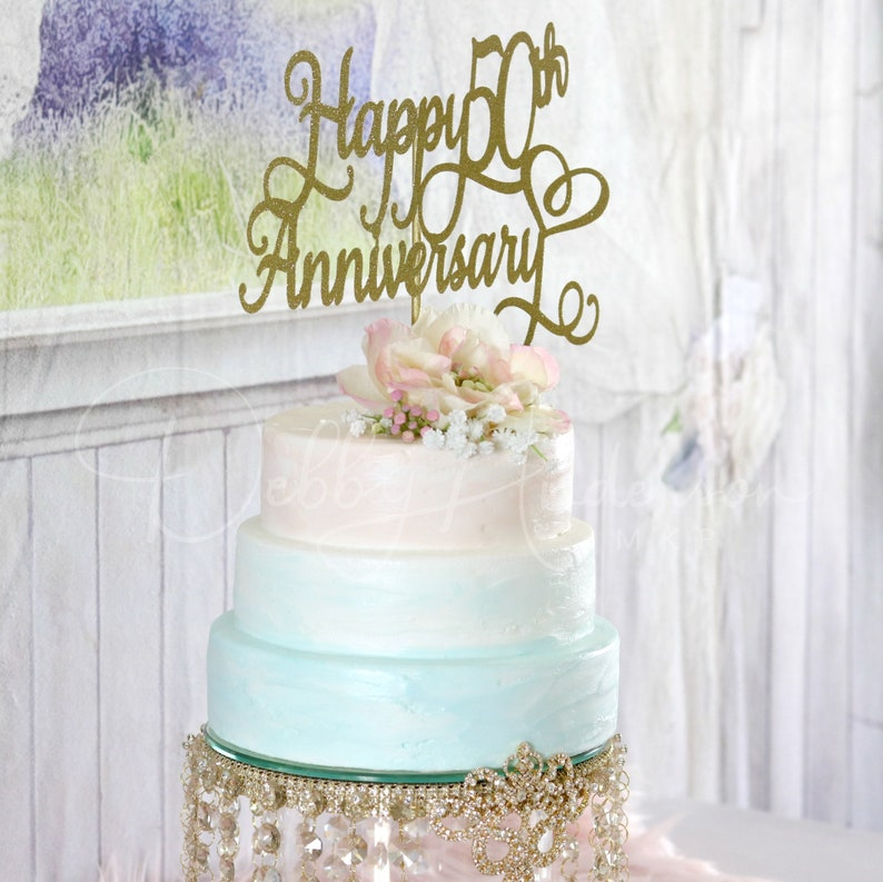 50th Wedding Anniversary Cakes.50th Anniversary Cake Topper 50th Wedding Anniversary Cake Anniversary Decor Any Color Year Wedding Anniversary Marriage Glitter