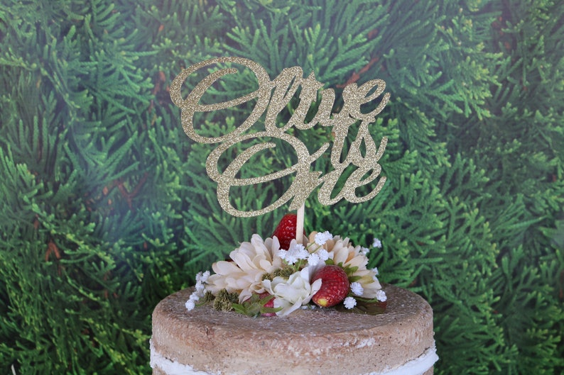 ANY NAME AGE First Birthday Cake Topper