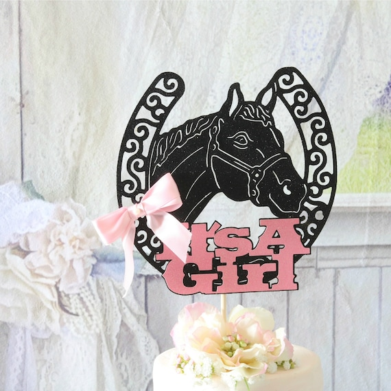 Little Cowboy Cake Topper Boy/'s Birthday Rocking Horse Cake Keepsake LT1304