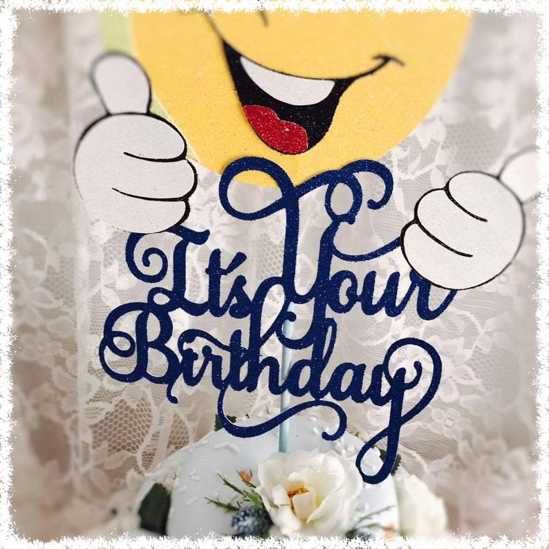Birthday Party Decor Birthday Party Centerpiece Birthday Cake Topper Emoji Cake Topper Birthday Party Decorations Birthday Party
