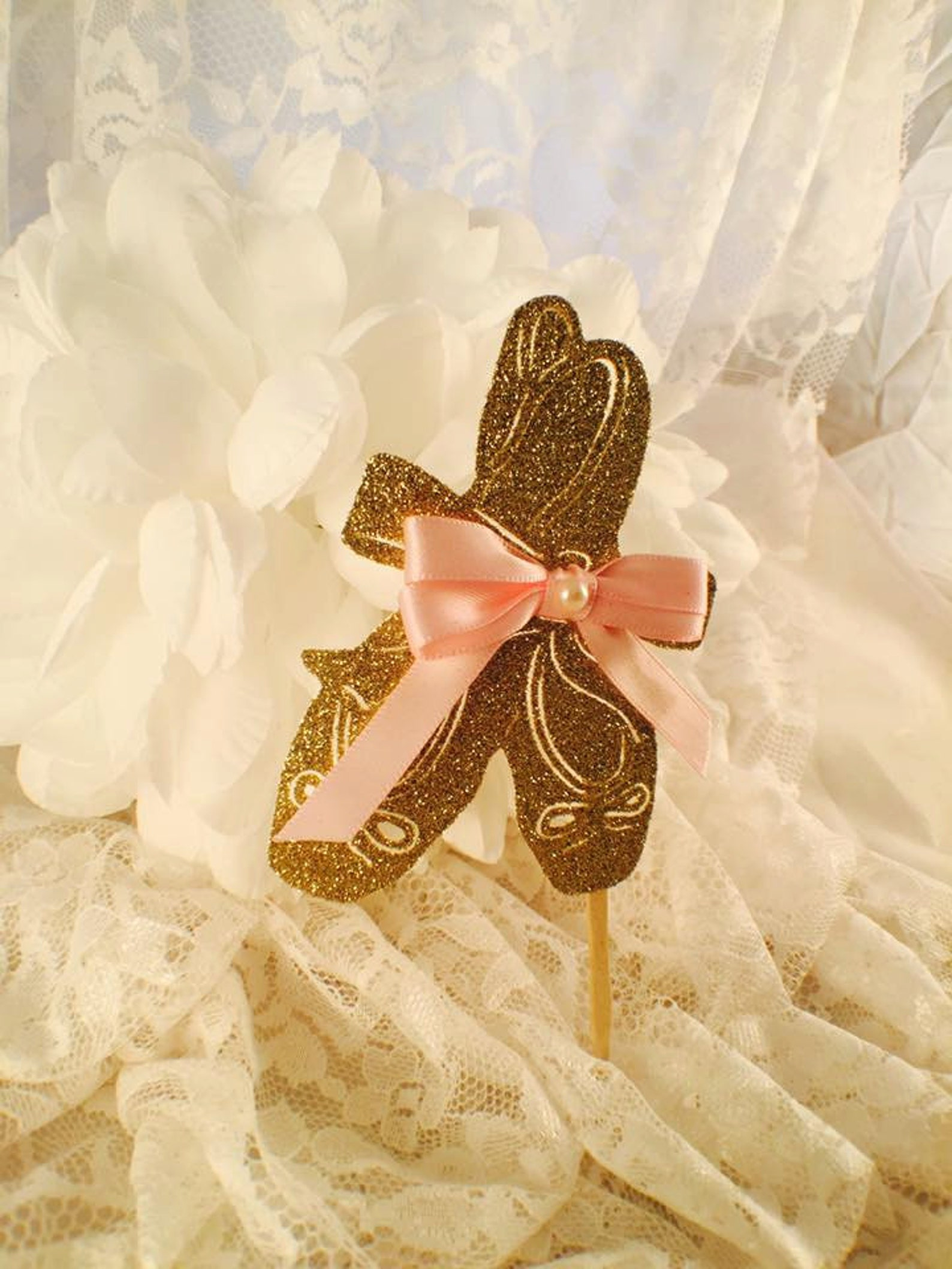 ballerina party - cupcake toppers - ballet party - ballerina slippers shoes - ballet slippers shoes - ballerina part decorations