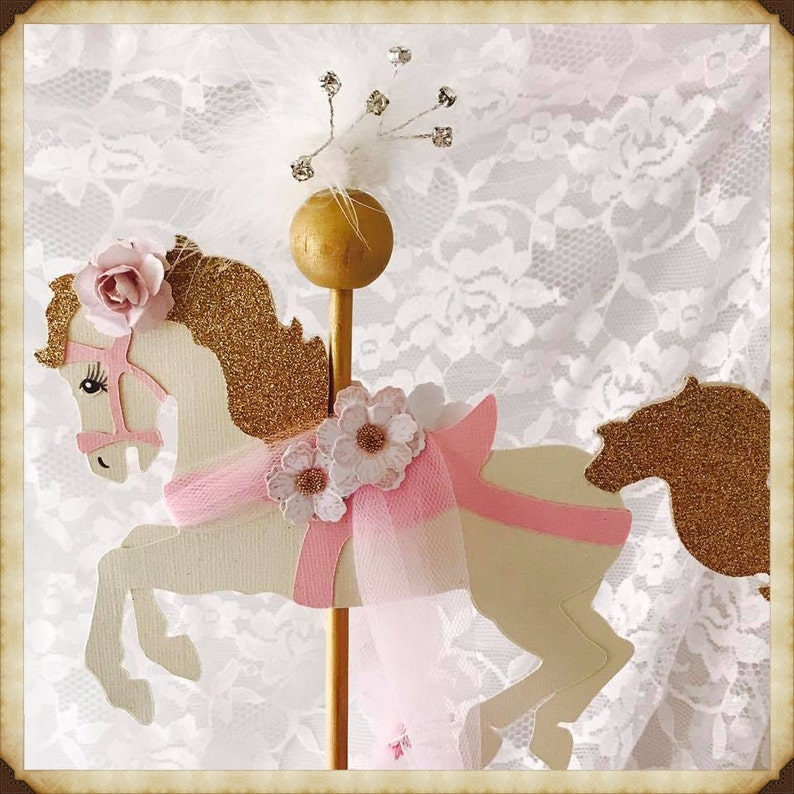 Carousel Horse Cake Topper Carousel Horse Party Decorations Etsy