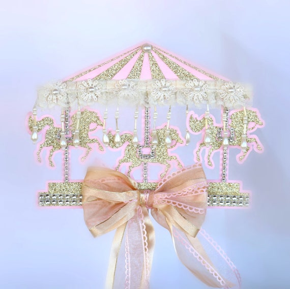 Marvelous Carousel Horse Cake Topper First Birthday Cake Topper Smash Etsy Personalised Birthday Cards Akebfashionlily Jamesorg