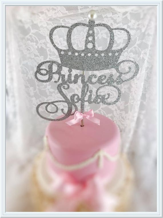 Princess Cake Topper Birthday Cake Topper Princess Party Etsy