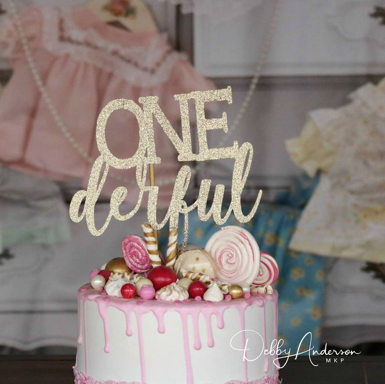 Onederful Cake Topper ANY COLOR First Birthday