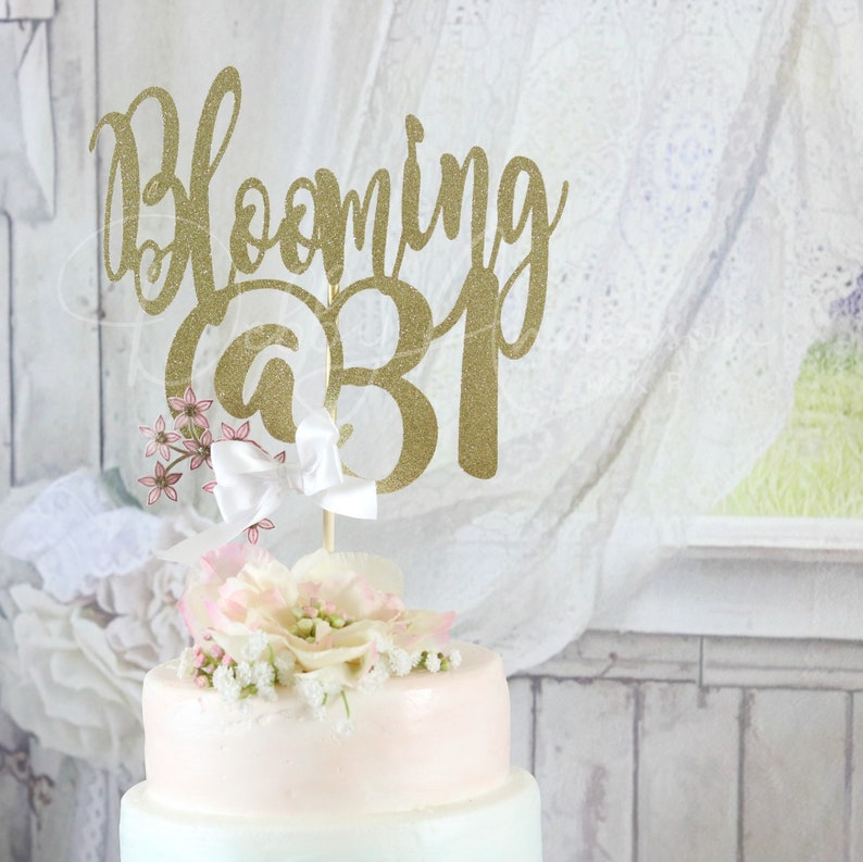 31st Birthday Cake Topper ANY AGE COLOR