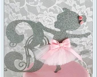 Ballerina Cake Topper - Ballerina Party - Ballerina Party Decorations - Ballerina Party Decor - Ballerina Birthday Party Cake Topper