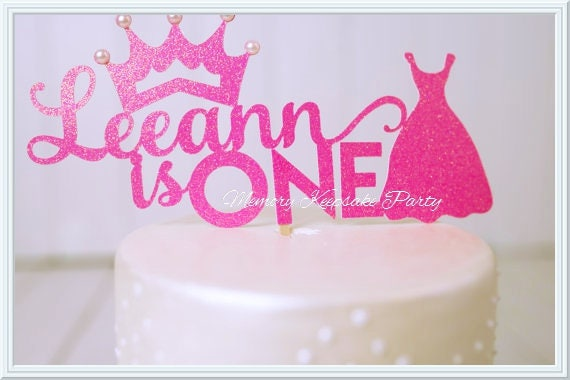 Princess Cake Topper First Birthday