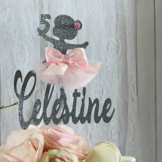 Ballerina Cake Topper Any Age Name Tutu Decorations Little Ballerina Birthday Party Princess Ballerina Baby Shower Girls Birthday Party