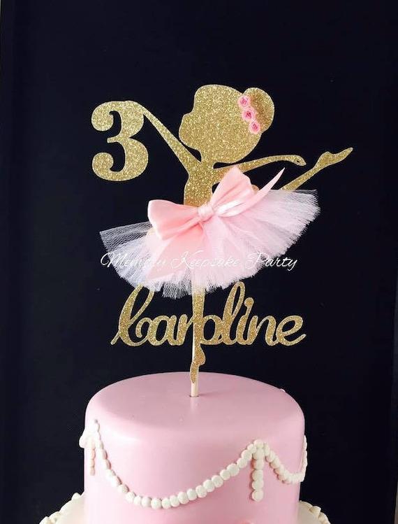 Ballerina Cake Topper Ballerina Party Decorations Etsy