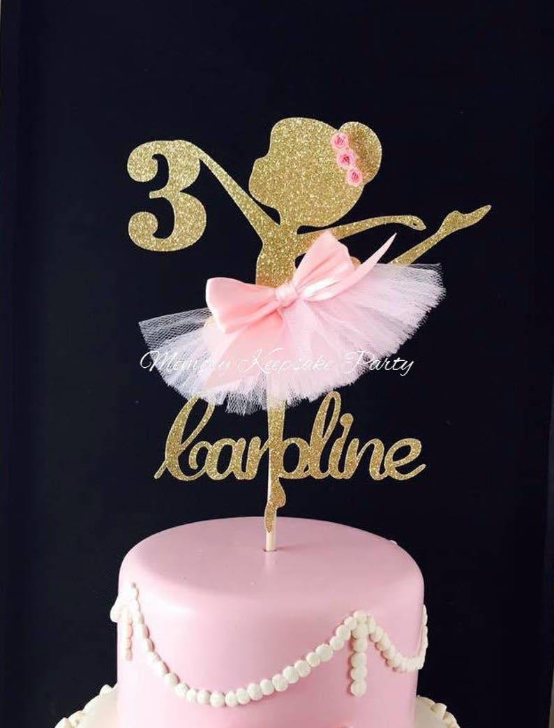 Ballerina Cake Topper  Ballerina Party Decorations  image 0