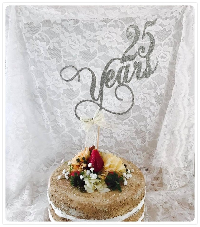 25 Years Old Cake Topper