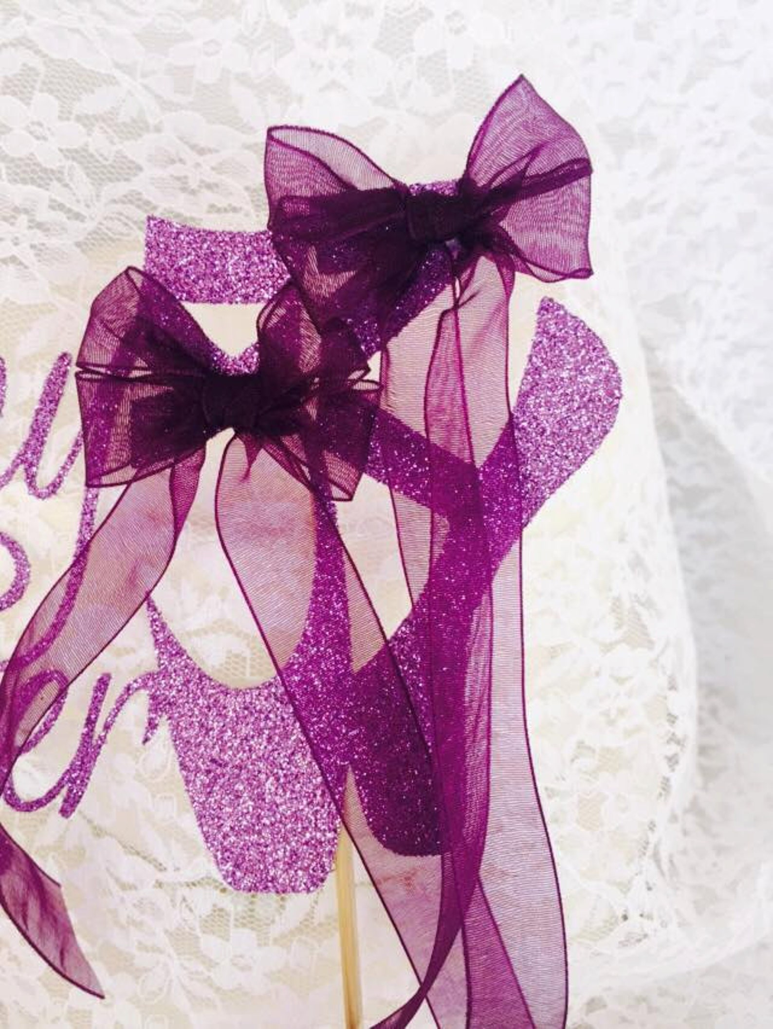 tiny dancer ballerina slippers cake topper - ballet event - custom colors - ballerina birthday party - ballerina decorations - b