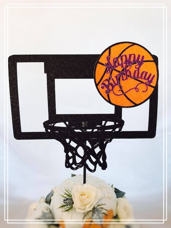 basketball cake topper basketball party decorations etsy
