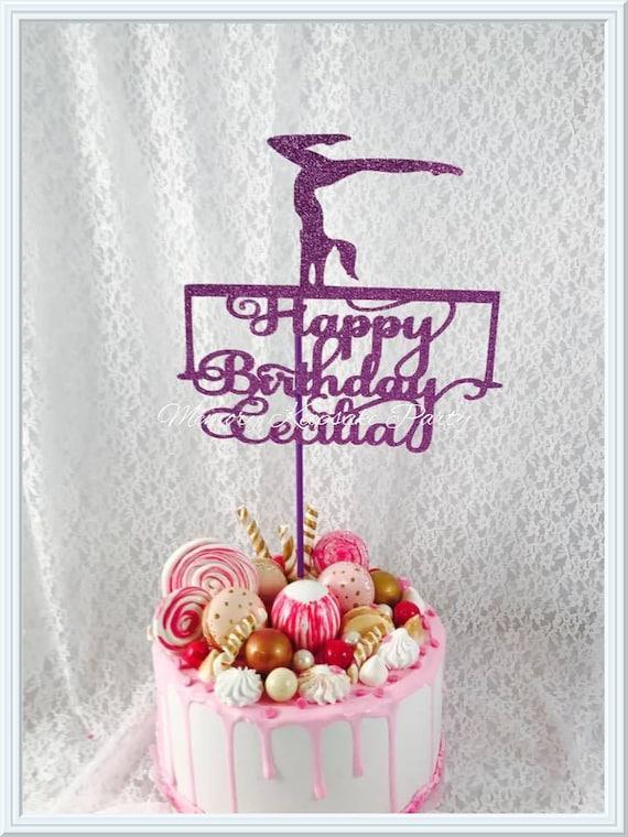 Gymnastics Cake Topper Balancing Beam Party