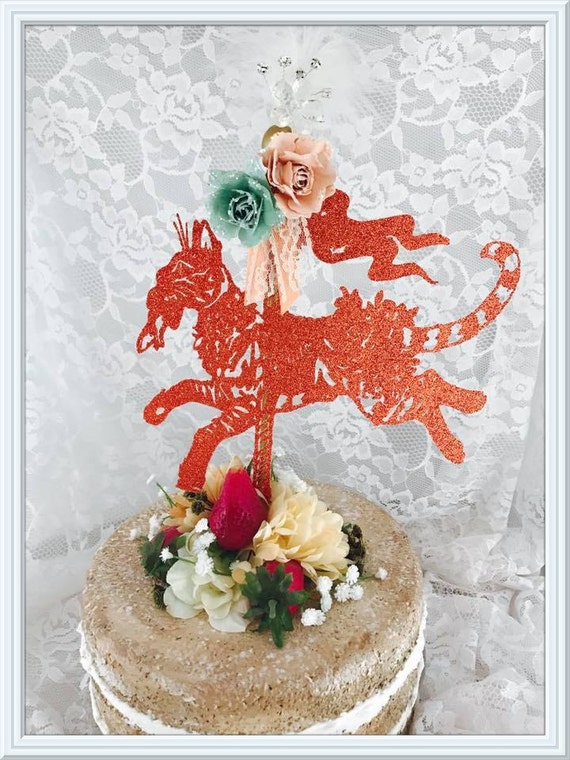 Cat Carousel Cake Topper Party Decorations